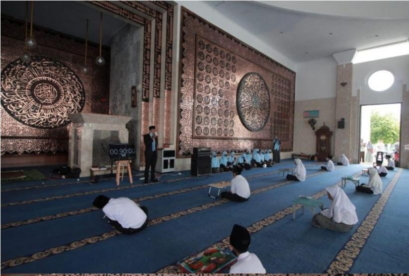 Kegiatan Try Out di Masjid AT-Taqwa
